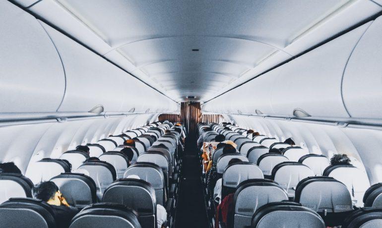 Fly indenfra med passagerer