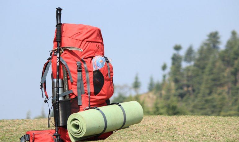 Rød outdoor rygsæk