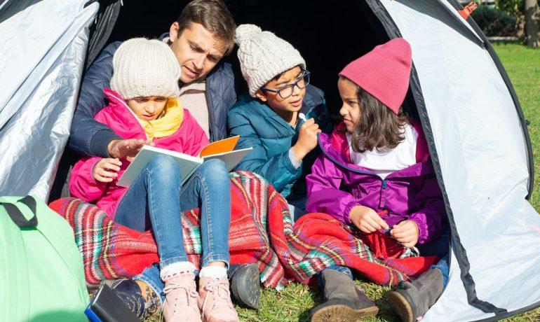 Børn camping